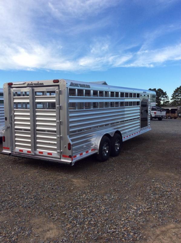 2018 Elite Trailers 24x7.6 Show Cattle Stock Trailer