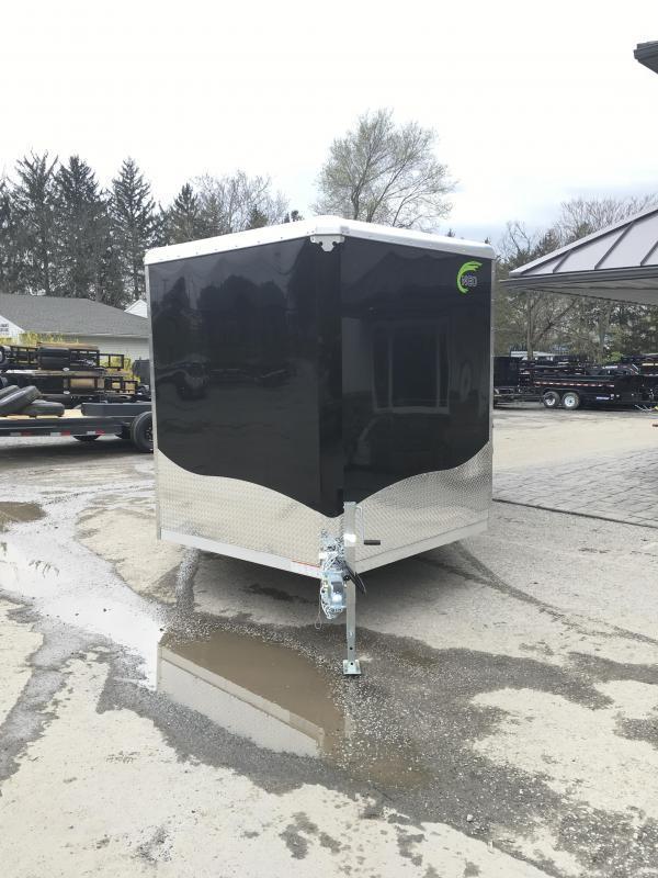 2019 NEO 8.5x20' NCBR Aluminum Round Top Enclosed Car Hauler Trailer 7000# GVW NCB2085R * ALUMINUM WHEELS * NUDO FLOOR & RAMP