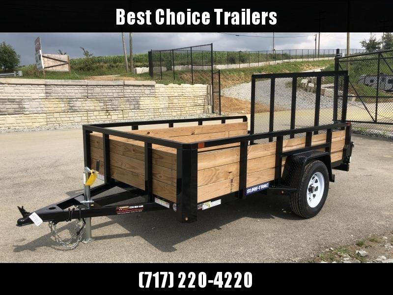 2019 Sure-Trac 6x10' Tube Top 3-Board High Side Utility Trailer 2990# GVW