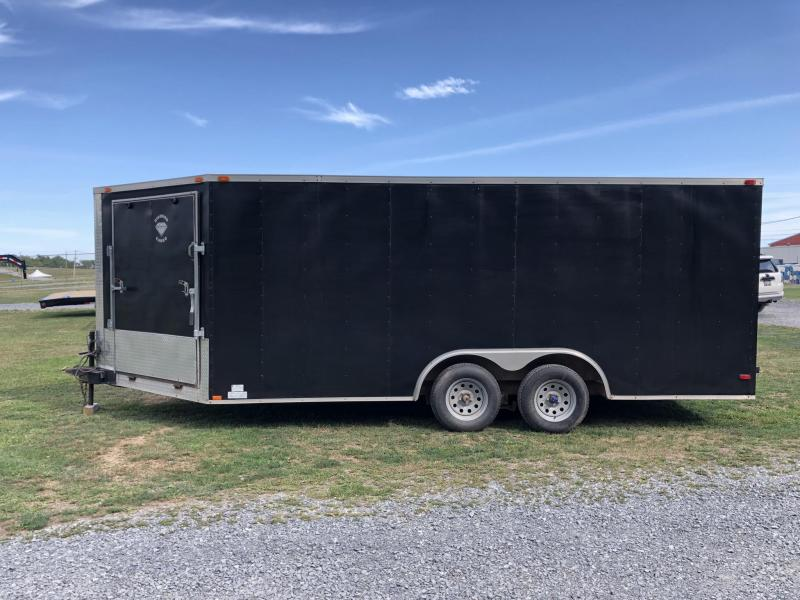 USED 2011 Diamond Cargo 8.5x22' Enclosed Car Hauler * FRONT RAMP * BLACK EXTERIOR * SLED/SNOWMOBILE TRAILER
