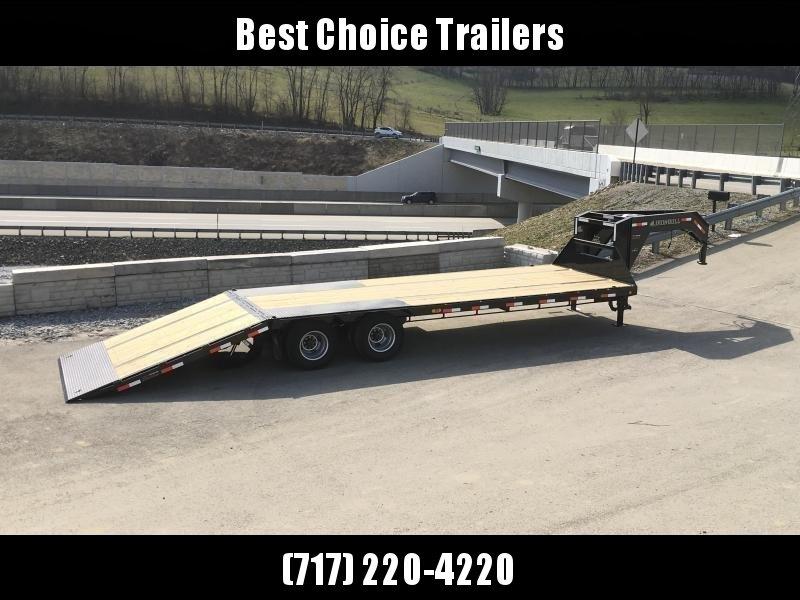 2019 Ironbull 102x32' Gooseneck Deckover Flatbed Hydraulic Dovetail 22000# GVW * BLACKWOOD TAIL in Ashburn, VA