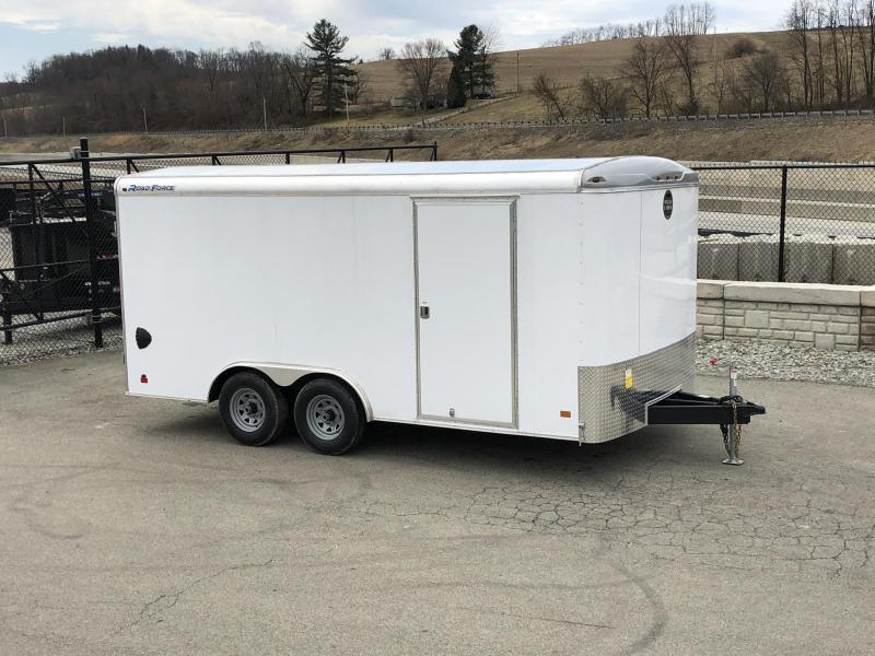 2019 Wells Cargo 8.5x16' Road Force Enclosed Cargo Trailer 9990# GVW * WHITE EXTERIOR * RAMP DOOR