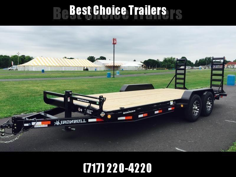 2018 Ironbull 7x22' Lowboy Equipment Trailer 14000# GVW * Stand Up Ramps