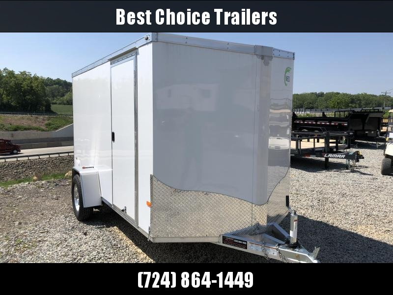 2018 Neo 6x12' NAV Enclosed Cargo Trailer 2990# GVW * RAMP DOOR * WHITE