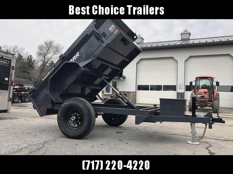 2019 Lamar 5x10' DS60 Dump Trailer 7000# GVW - SINGLE AXLE * TARP * RAMPS * SPARE MOUNT * CHARCOAL