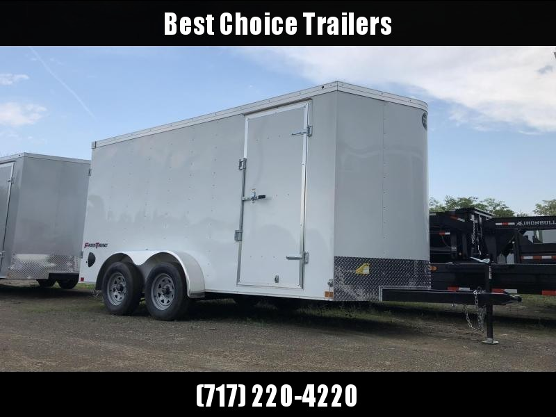 2019 Wells Cargo 7x16' Fastrac Enclosed Cargo Trailer 7000# GVW * WHITE * BARN DOORS * V-NOSE