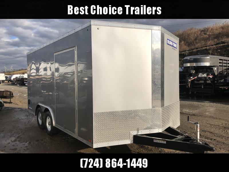 2018 Sure-Trac 8.5x16' Enclosed Cargo Trailer 7000# GVW * SILVER