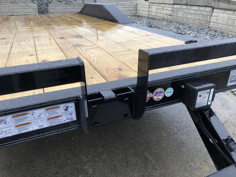 "2018 Iron Bull 102""x20' Wood Deck Car Trailer 9990# GVW * 102"" DECK * DRIVE OVER FENDERS * FREE SET OF ALUMINUM WHEELS"