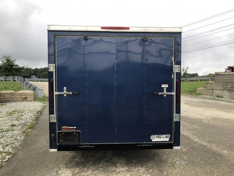 USED 2017 Victory 7x16' Enclosed Cargo Trailer 7000# GVW - BATTERIES & INVERTER WITH LIGHTS & OUTLETS