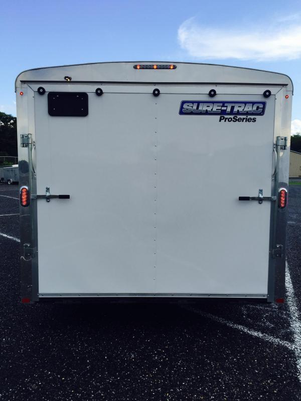 2019 Sure Trac 8.5x20' STRCH Commercial Round Top Enclosed Car Hauler Trailer 9900#