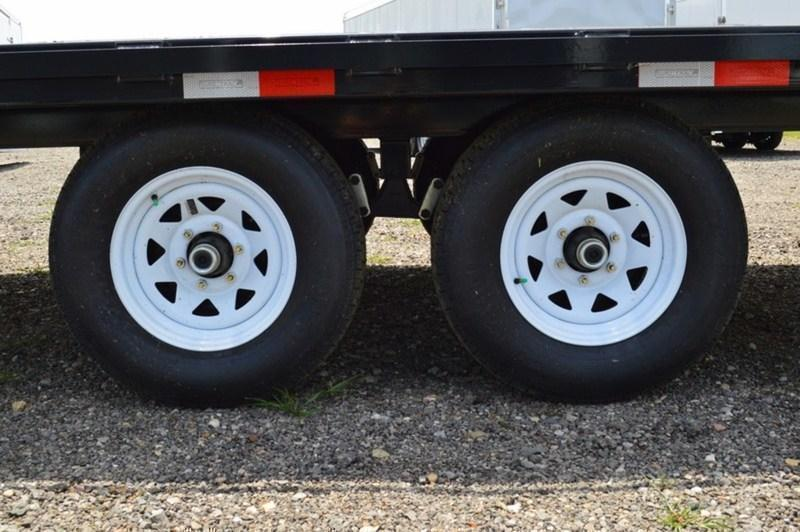 2019 Sure-Trac 102x17+3 9990# Deckover Equipment Trailer * STAND UP RAMPS