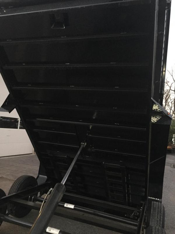 2019 Lamar DM10 77x12' 9990# Low Profile Dump Trailer 4' HIGH SIDES * 12K JACK * TARP KIT  * ADJUSTABLE COUPLER * CHARCOAL * SPARE TIRE & MOUNT