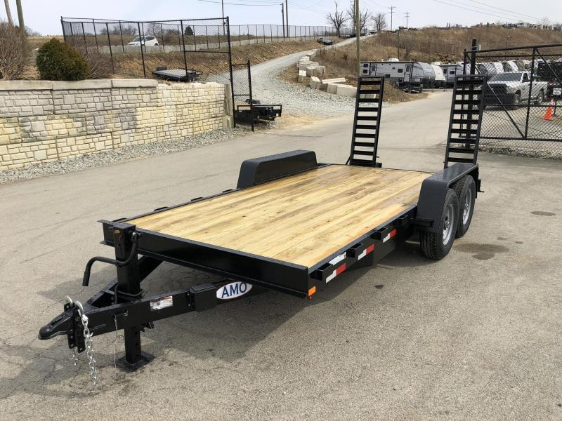 2019 AMO 7x18' Equipment Trailer 12000# GVW * STAND UP RAMPS * LED TAIL LIGHTS