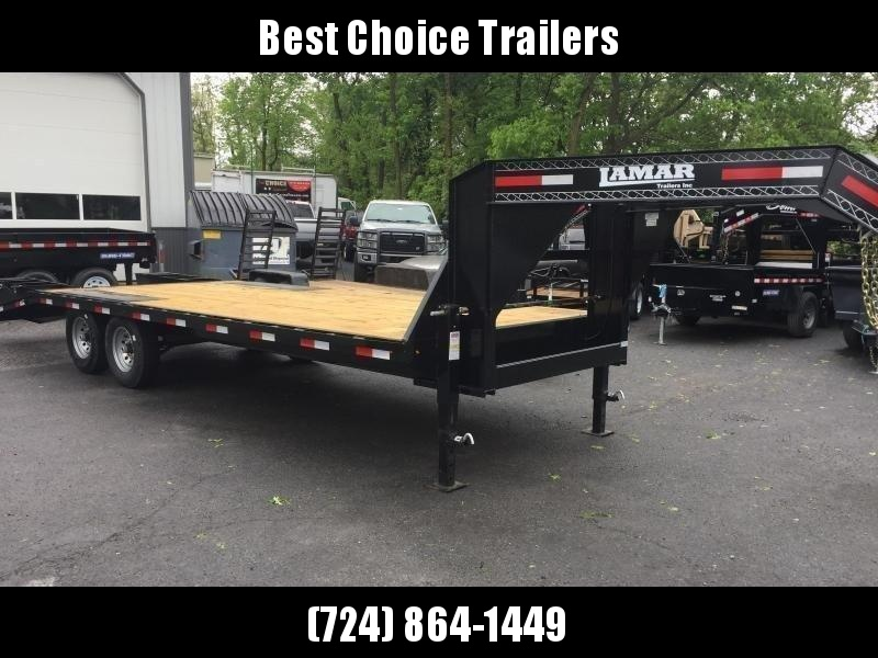 2018 Lamar 102x19+5' Gooseneck Beavertail Deckover Trailer 14000# GVW * CHARCOAL POWDERCOAT * FLIPOVER RAMPS in Ashburn, VA