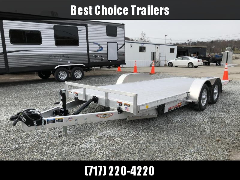 2018 H&H 7x18' Aluminum Power Tilt Car Trailer 7000# GVW - EXTRUDED ALUMINUM FLOOR * CLEARANCE