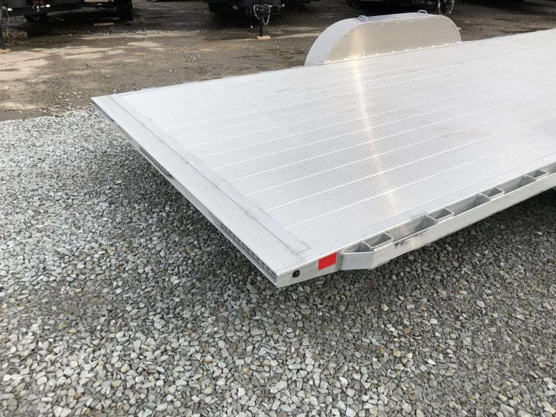 2018 H&H 7x18' Aluminum Power Tilt Car Trailer 7000# GVW - EXTRUDED ALUMINUM FLOOR * CLEARANCE