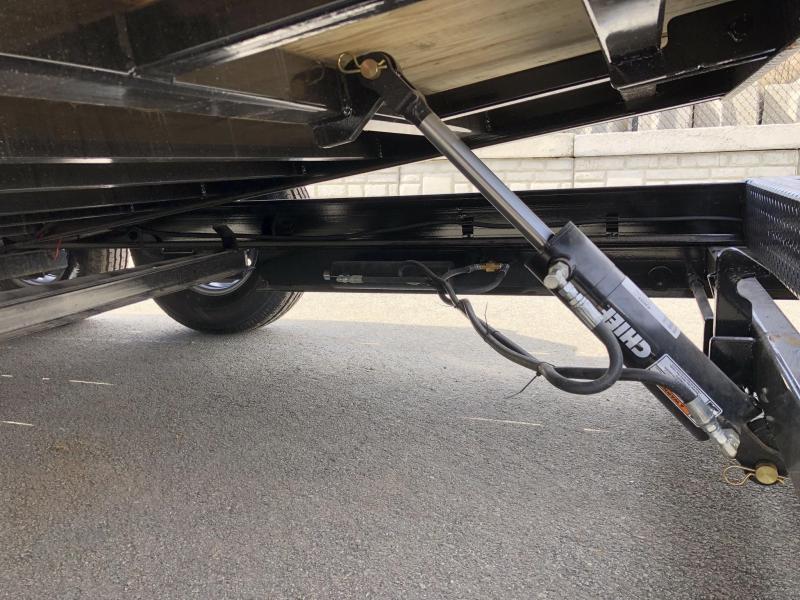 2019 Ironbull 7x16+4 Gravity Tilt Equipment Trailer 14000# TORSION * STOP VALVE