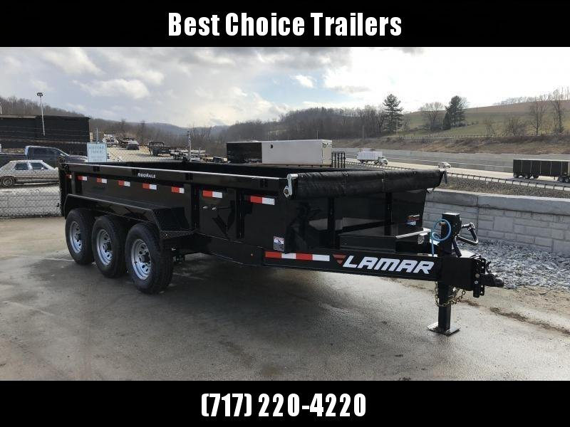 2018 Lamar 7x16' Dump Trailer 21000# GVW - TARP * RAMPS* 12K JACK 2 SPEED * 14-PLY RUBBER * REAR SUPPORT STANDS * CLEARANCE - FREE ALUMINUM WHEELS