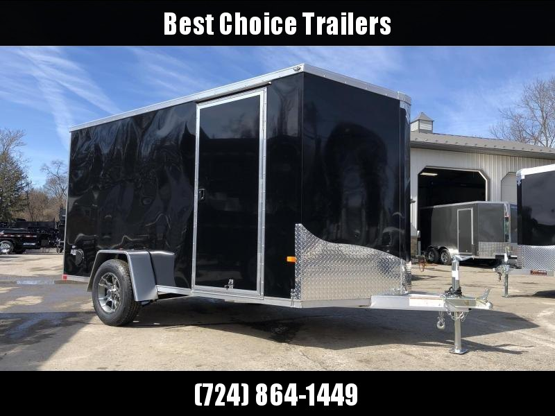 2019 Neo 6x12' NAVF Aluminum Enclosed Cargo Trailer * RAMP DOOR * BLACK * ALUMINUM WHEELS