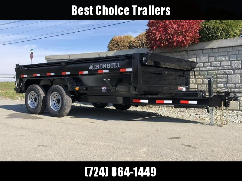 2019 Iron Bull 7x14' SUPER LOW Dump Trailer 14000# GVW RAMPS * TARP * SCISSOR * SPARE MOUNT * DROP AXLES