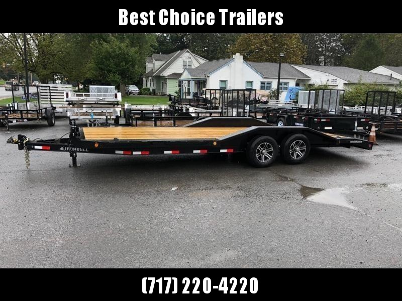"2018 Iron Bull 102""x20' Wood Deck Car Trailer 9990# GVW * 102"" DECK * DRIVE OVER FENDERS * CLEARANCE - FREE ALUMINUM WHEELS"