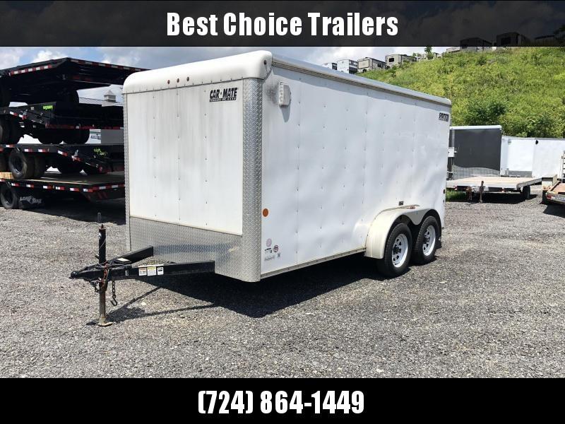 USED 2015 Car Mate 7x14' Enclosed Cargo Trailer 7000# GVW * 50' E-TRACK * DEXTER'S