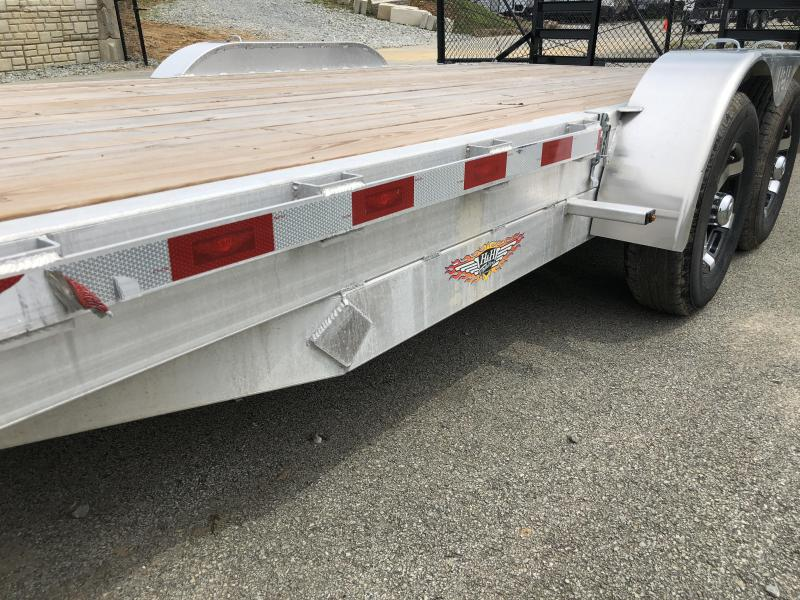 2018 H&H HAD 7x18 ALUMINUM Equipment Trailer 9990# GVW * TORSION * SWIVEL D-RINGS * EXTRA STAKE POCKETS