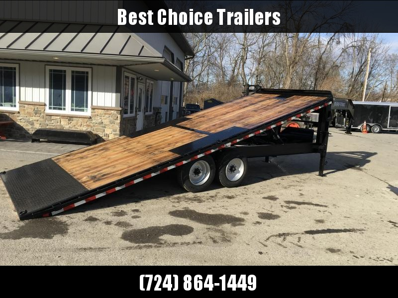 2018 Sure-Trac 102x22' Gooseneck Power Tilt Deckover 15000# GVW * WINCH PLATE * OAK DECK * CLEARANCE - FREE ALUMINUM WHEELS