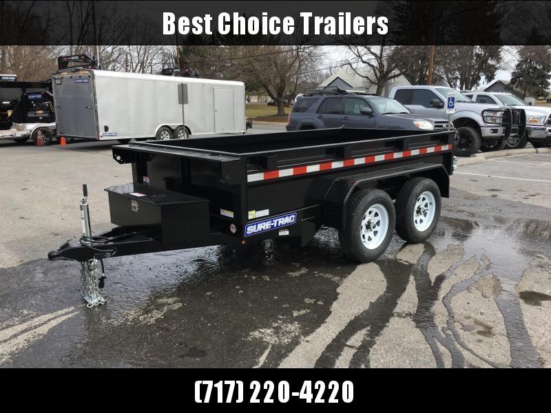 2018 Sure-Trac 5x10 Low Profile Homeowner Dump Trailer 7000# GVW * CLEARANCE - FREE ALUMINUM WHEELS