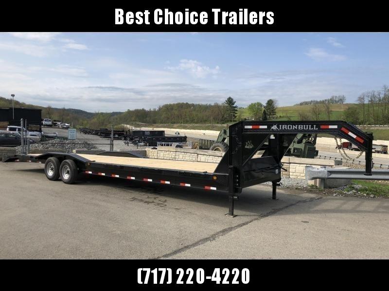 """2019 Ironbull 102x32' Gooseneck Car Hauler Equipment Trailer 14000# GVW * FULL WIDTH RAMPS * 102"""" DECK * DRIVE OVER FENDERS * 4' BEAVERTAIL"""