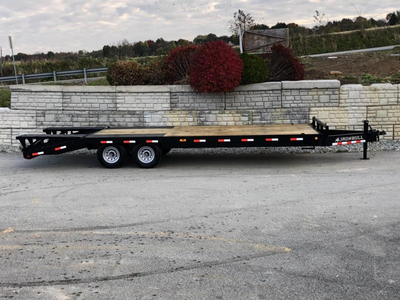 2019 Ironbull 102x20+5' Beavertail Deckover Flatbed 14000# * 2 FLIPOVER RAMPS * CHAIN TRAY