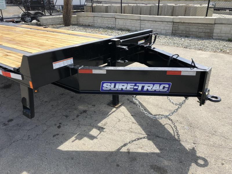 "2020 Sure-Trac 102""x20+5' LowPro Beavertail Deckover Trailer 17600# GVW * 8000# AXLES * PIERCED FRAME * FULL WIDTH RAMPS * 12"" I-BEAM"