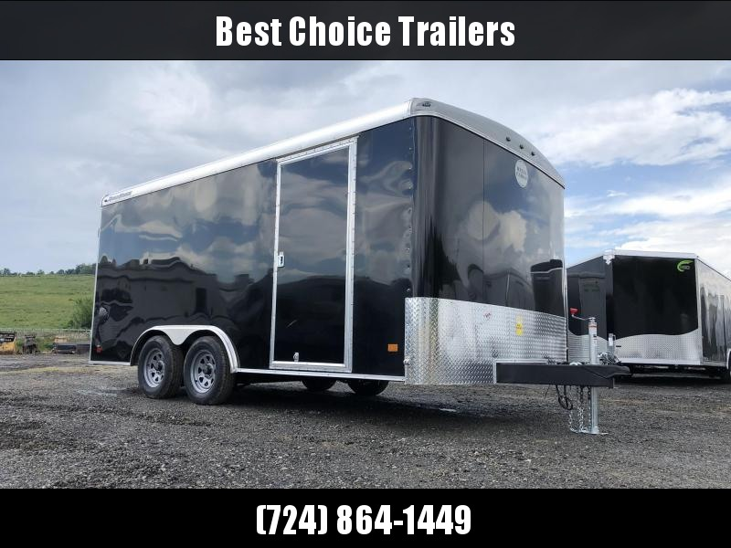 2019 Wells Cargo 8.5x16' Road Force Enclosed Cargo Trailer 7000# GVW * BLACK EXTERIOR * RAMP DOOR