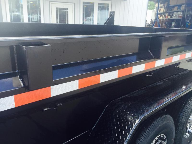 2019 Sure-Trac 7x16' 16000# Low Profile HD GOOSENECK Dump Trailer * 8000# AXLES * TELESCOPIC HOIST
