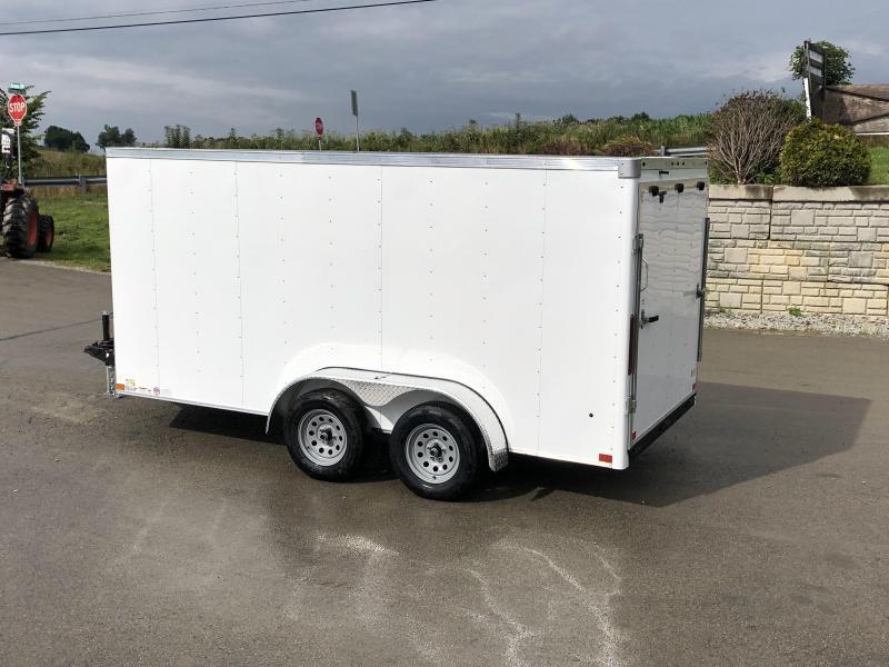 2019 Wells Cargo 7x14' Road Force Enclosed Cargo Trailer 7000# GVW * WHITE * RAMP DOOR * V-NOSE * .030 ALUM EXTERIOR * 1 PC ALUM ROOF * ARMOR GUARD