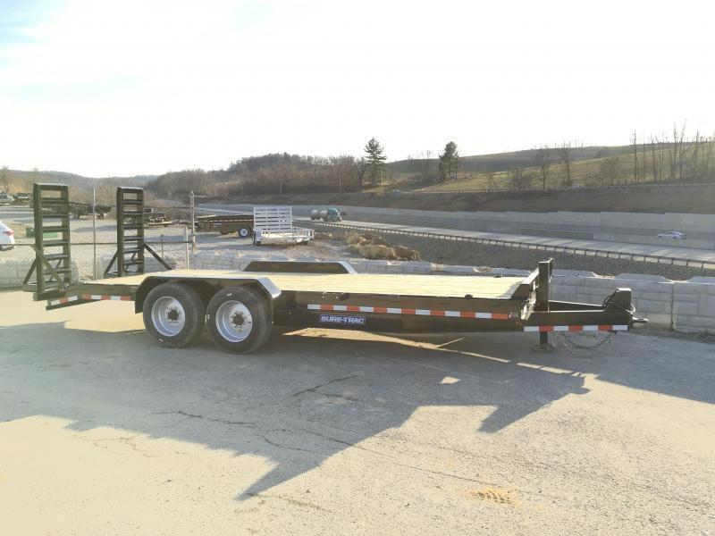 """2018 Sure-Trac Implement 7'x20' 16000# Equipment Trailer * 8K AXLES * 17.5"""" RUBBER * 8"""" FRAME"""