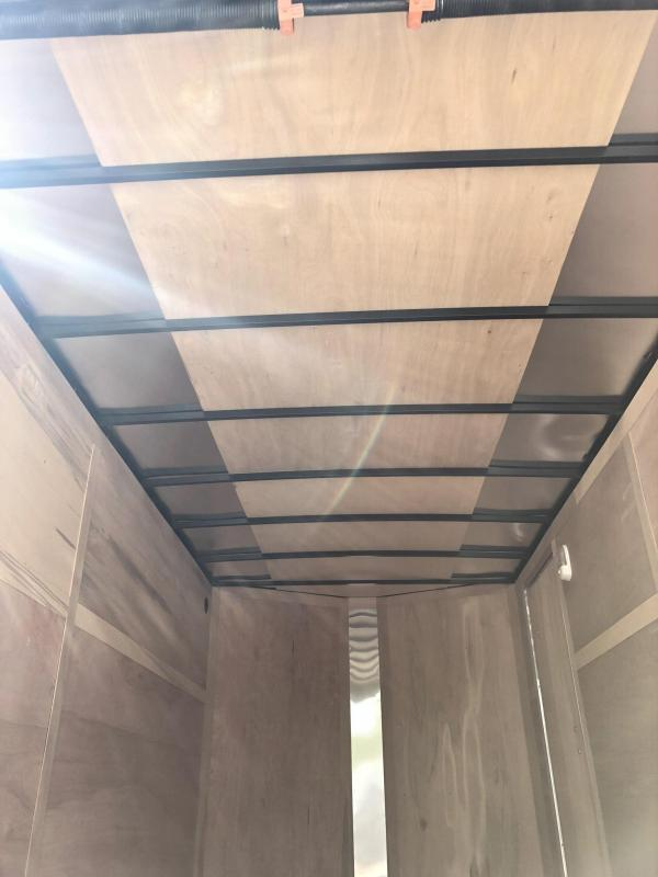 2019 Wells Cargo 7x14' Fastrac Enclosed Cargo Trailer 7000# GVW * WHITE * BARN DOORS * V-NOSE