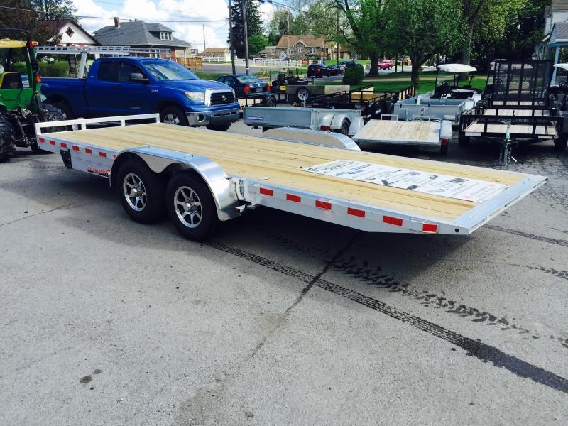 2018 H&H 7x18' 7000# Aluminum Power Tilt Car Hauler * POWER TILT * SWIVEL D-RINGS * EXTRA STAKE POCKETS * PUMP PLATE