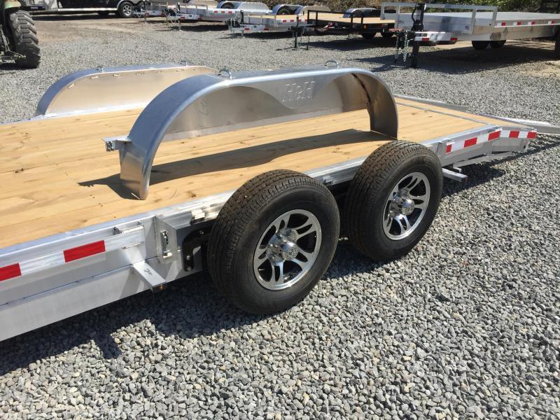 """H&H 7x20' 9990# Low Profile Aluminum Car Hauler  * HEAVY DUTY 8"""" FRAME * TORSION DROP AXLES * CLEARANCE"""