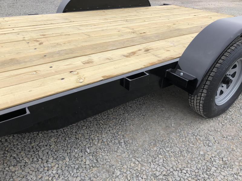 2018 AMO 7x16' Wood Deck Car Trailer 7000# GVW * FREE SPARE TIRE