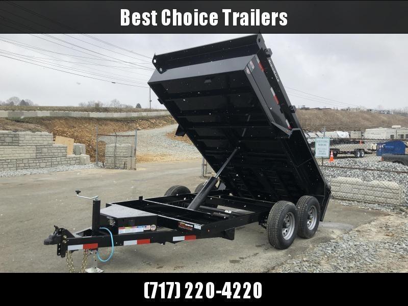 2018 Lamar 77x12' DM LowPro Dump Trailer 9990# - STANDARD * RAMPS  * SPARE MT * CHARCOAL