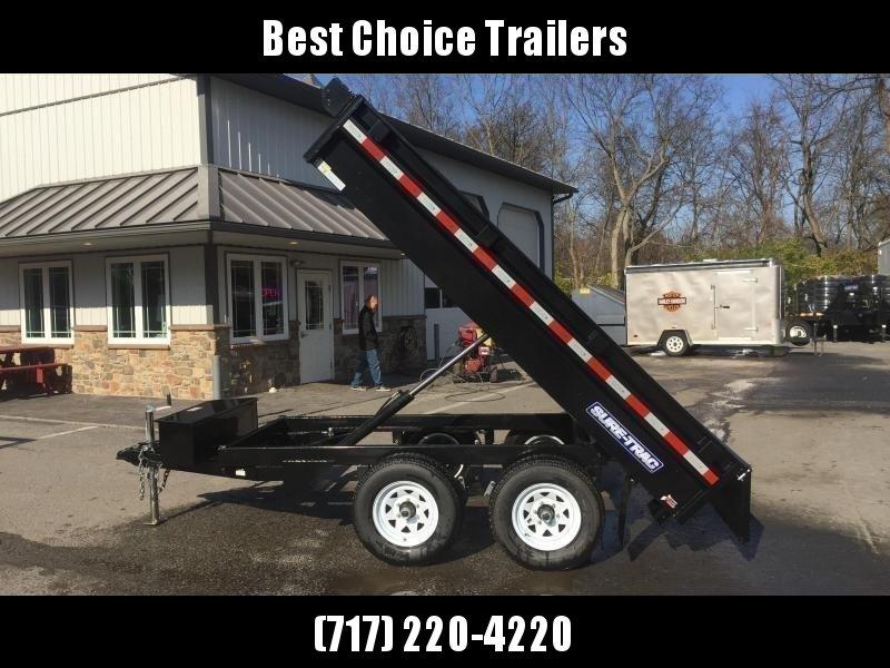 2019 Sure-Trac 6x10' SD Deckover Dump Trailer 7000# GVW