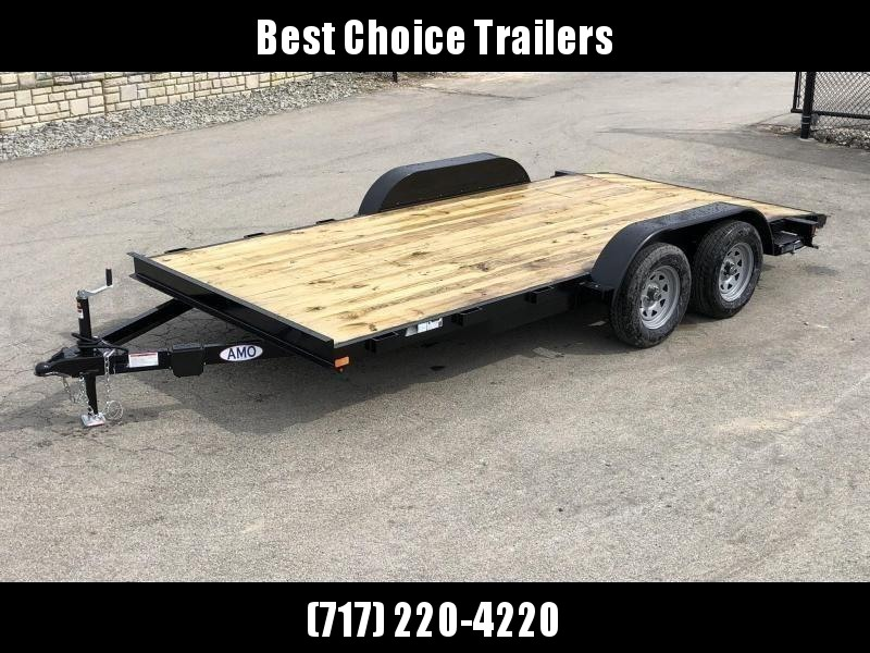 2019 AMO 7x16' Wood Deck Car Trailer 7000# GVW * LED TAIL LIGHTS in Ashburn, VA