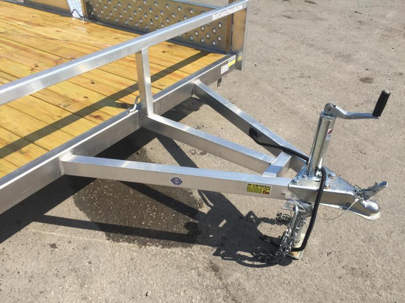 2019 QSA 7x12 Deluxe Aluminum Utility Trailer SIDE ATV RAMPS