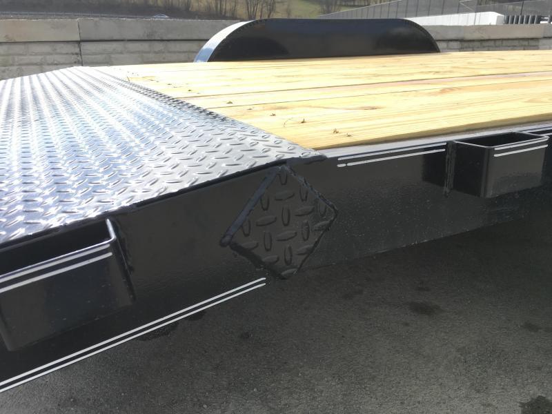 2019 Lamar 7x20 7000# Wood Deck Car Hauler Trailer * ADJUSTABLE COUPLER * REMOVABLE FENDERS * EXTRA STAKE POCKETS * CHARCOAL