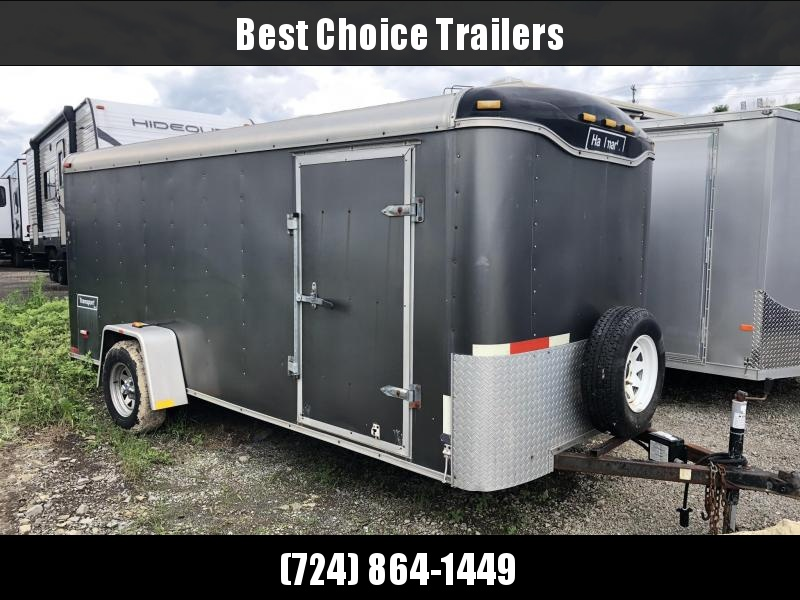 USED Haulmark 6x14' Enclosed Cargo Trailer * RAMP DOOR * ROUND TOP * SPARE TIRE