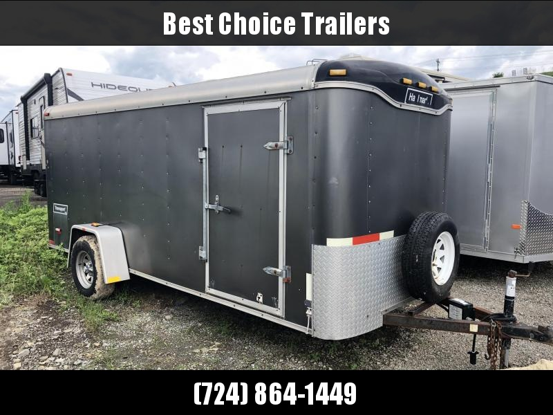 USED Haulmark 6x14' Enclosed Cargo Trailer * RAMP DOOR * ROUND TOP * SPARE TIRE
