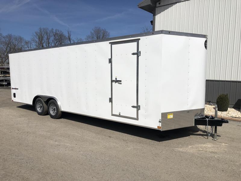 2019 Wells Cargo 8.5x20' Fastrac DELUXE Enclosed Car Trailer 7000# GVW * WHITE EXTERIOR * RAMP DOOR * .030 METAL