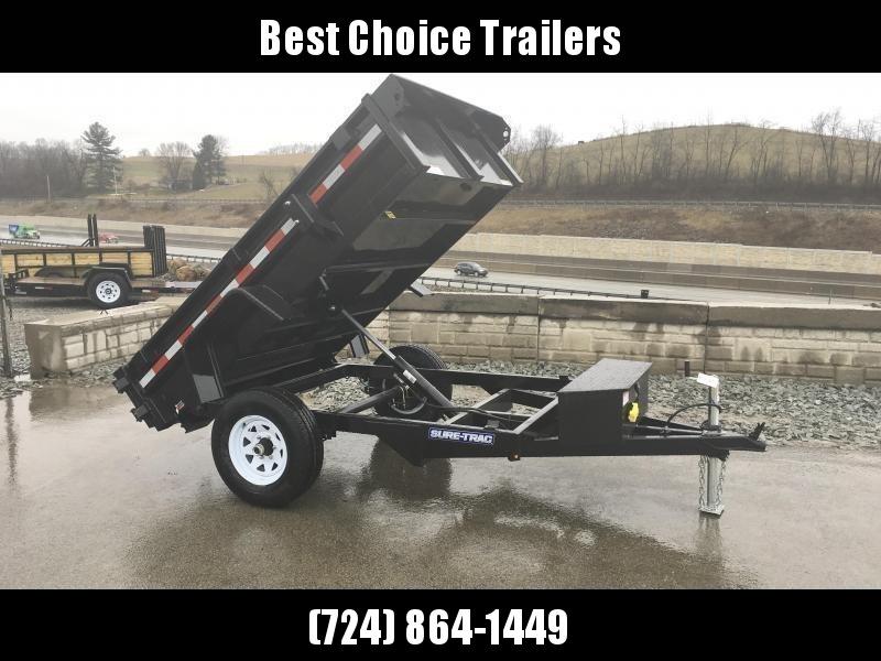 2018 Sure-Trac 5x8' Dump Trailer 5000# GVW BARN DOORS