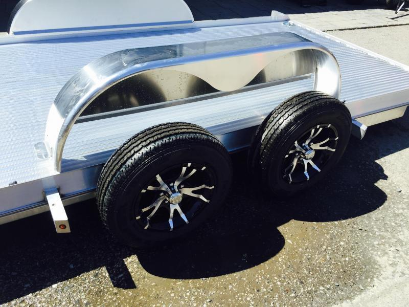 2018 Kiefer 7x18' 7000# Aluminum Car Hauler TORSION EXTRUDED FLOOR ALUMINUM WHEELS LOW LOAD ANGLE 6' RAMPS * CLEARANCE PRICED